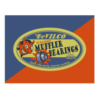 DeVILco Muffler Bearings Postcard