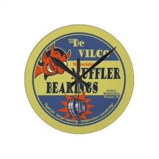 DeVILco Muffler Bearings Round Clock