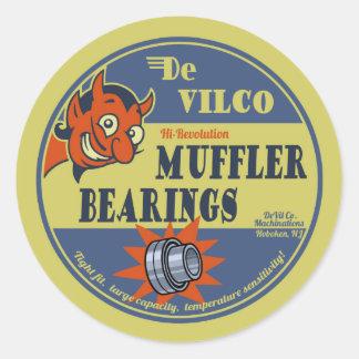DeVILco Muffler Bearings Round Sticker