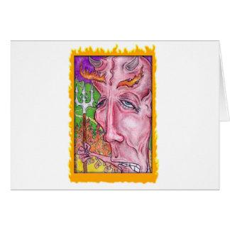 Devilish Art by TEO Greeting Card