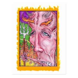 Devilish Art by TEO Postcard
