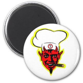 Devilish Chef 6 Cm Round Magnet