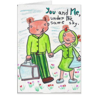 Devilish Embrace Greeting Card