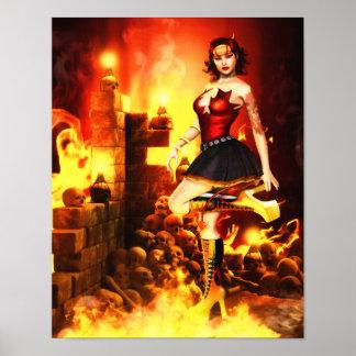 Devilish Glamour Canvas/Poster Print