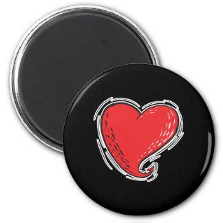 devilish heart refrigerator magnet