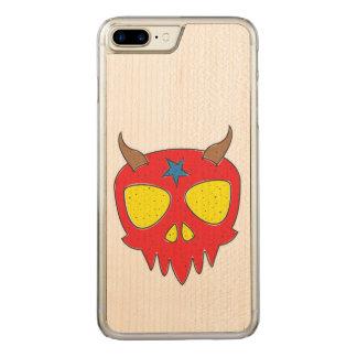 Devilish Skull Illustration Carved iPhone 8 Plus/7 Plus Case