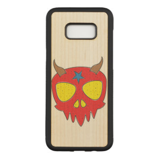 Devilish Skull Illustration Carved Samsung Galaxy S8+ Case