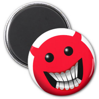 Devilish Smile 6 Cm Round Magnet
