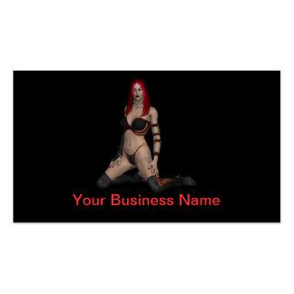 Devilish Woman Pinup Business Card Template