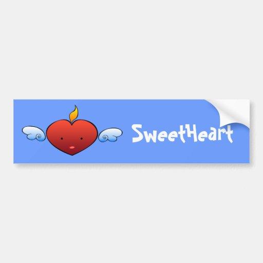 Deville Heart Bumper Stickers