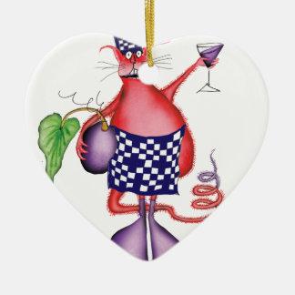 devilled cat 2, tony fernandes ceramic heart decoration