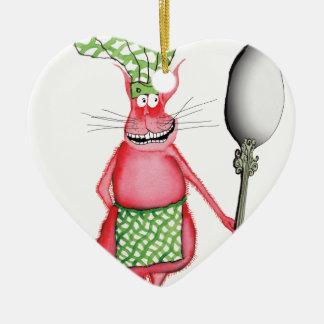 devilled cat 3, tony fernandes ceramic heart decoration