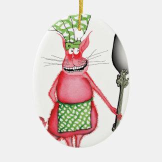 devilled cat 3, tony fernandes ceramic oval decoration