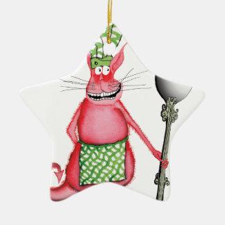 devilled cat 3, tony fernandes christmas ornament