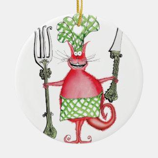 devilled cat 5, tony fernandes christmas ornament
