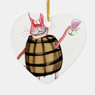 devilled cat 7, tony fernandes ceramic heart decoration