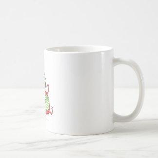 devilled cat with xmas pud, tony fernandes coffee mug