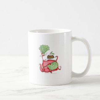 devilled cat with xmas pud, tony fernandes mug