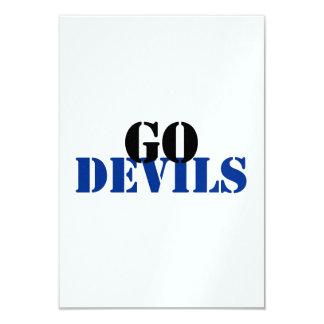 Devils 9 Cm X 13 Cm Invitation Card