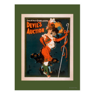 Devil's Auction Woman in Costume Theatre 2 Postcard