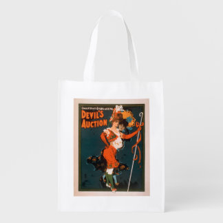 Devil's Auction Woman in Costume Theatre 2 Reusable Grocery Bag