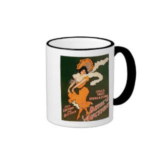 Devil's Auction Woman in Costume Theatre Coffee Mugs