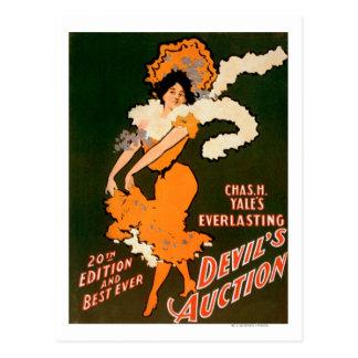 Devil's Auction Woman in Costume Theatre Postcard