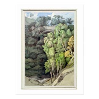 Devil's Bridge, 1810 (w/c with pen & ink over grap Postcard
