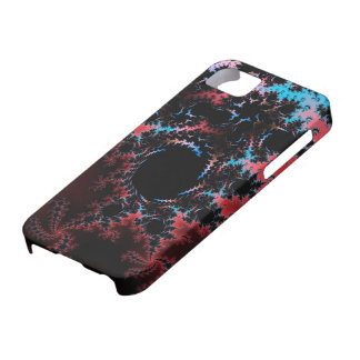 Devil's Dance - red and blue fractal art iPhone 5 Case