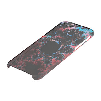 Devil's Dance - red and blue fractal art Clear iPhone 6/6S Case