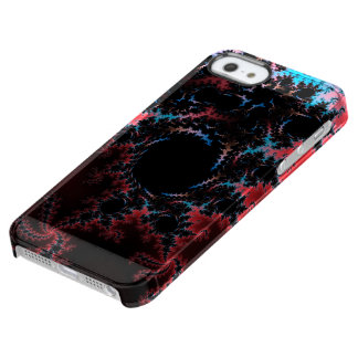 Devil's Dance - red and blue fractal art Clear iPhone SE/5/5s Case