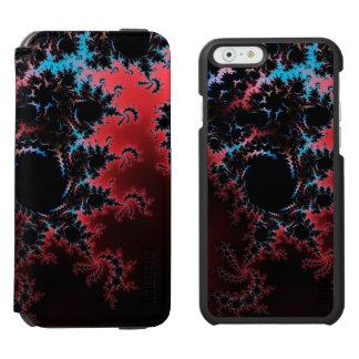 Devil's Dance - red and blue fractal art Incipio Watson™ iPhone 6 Wallet Case