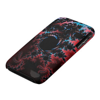 Devil's Dance - red and blue fractal art iPhone 3 Cases