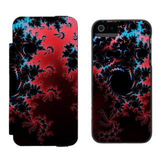 Devil's Dance - red and blue fractal art Incipio Watson™ iPhone 5 Wallet Case