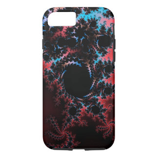 Devil's Dance - red and blue fractal art iPhone 7 Case