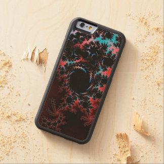 Devil's Dance - red and blue fractal art Maple iPhone 6 Bumper