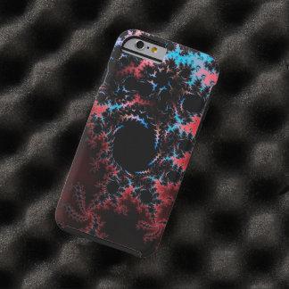 Devil's Dance - red and blue fractal art Tough iPhone 6 Case