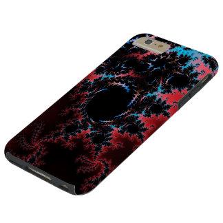 Devil's Dance - red and blue fractal art Tough iPhone 6 Plus Case