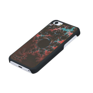 Devil's Dance - red and blue fractal art Maple iPhone 5C Case