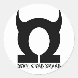 Devil's End Stuff Round Sticker