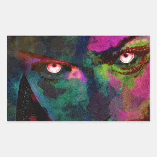 devils eyes rectangular sticker
