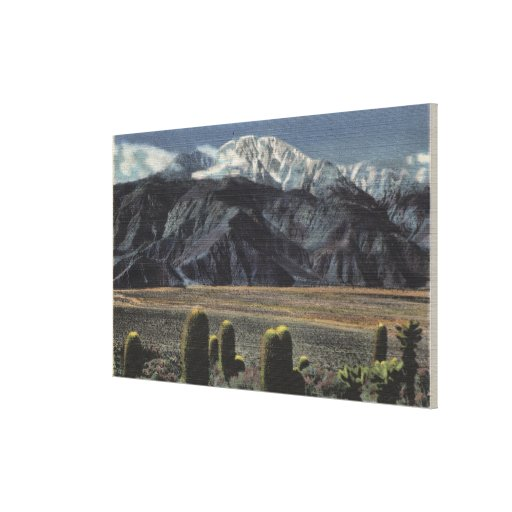 Devil's Garden View of Mt. San Jacinto # 2 Gallery Wrapped Canvas