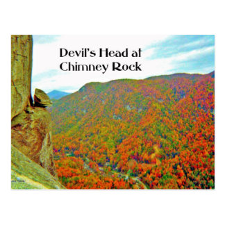 Devil's Head Rock Formation over Chimney Rock Postcard