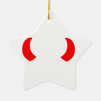 Devil's Horns Christmas Ornament