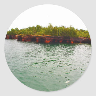 Devil's Island Classic Round Sticker