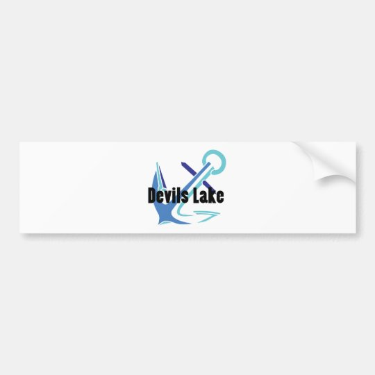 Devils Lake Anchor Bumper Sticker