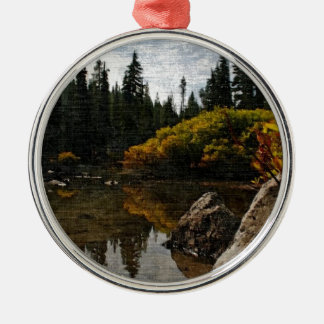 Devils Lake, Oregon Art Christmas Ornament