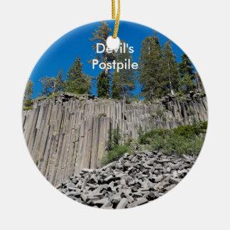 Devil's Postpile Christmas Ornament