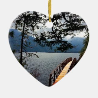 Devils Punch Bowl Olympic National Park Ceramic Heart Decoration