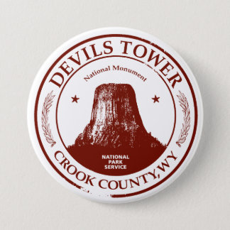 Devils Tower 7.5 Cm Round Badge